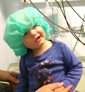 nach der ersten Bestrahlung
